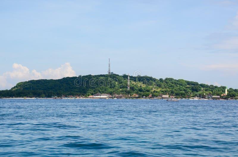 Mening van het Gili Meno-eiland in Lombok, Indonesië stock fotografie