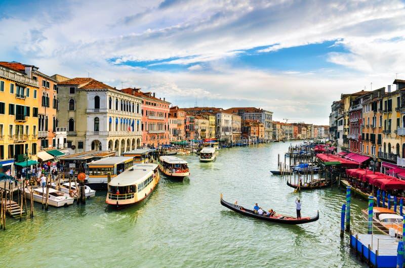 Mening van het Grote Kanaal, Venetië royalty-vrije stock foto's