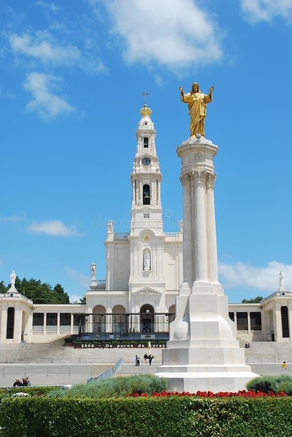Mening van het Heiligdom van Fatima, in Portugal royalty-vrije stock foto