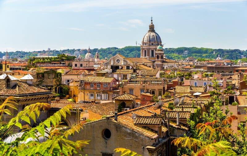 Mening van het historische centrum van Rome, Italië stock foto