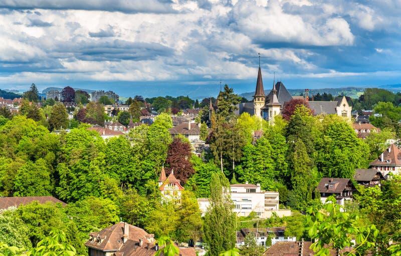 Mening van het Historische Museum in Bern stock fotografie