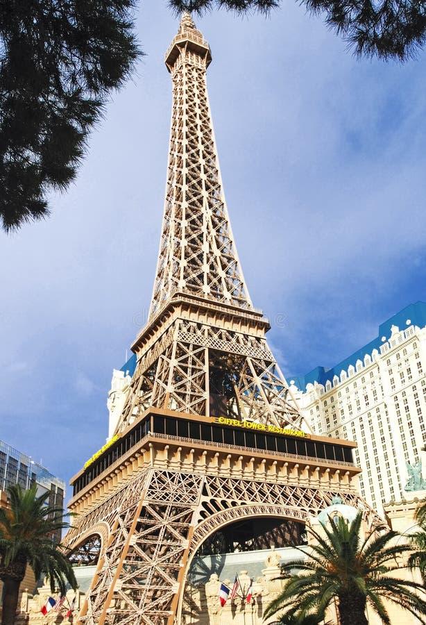 Mening van het het hotel en casino van Parijs Las Vegas in Las Vegas, de V.S. stock afbeelding