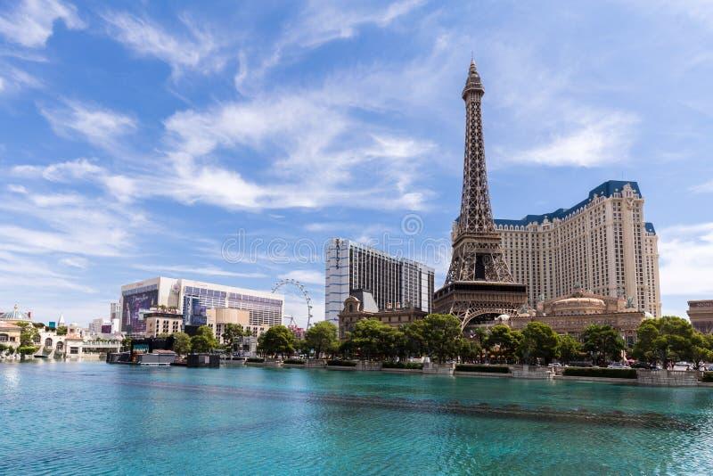 Mening van het hotel van Parijs Las Vegas en het casino, LAS VEGAS, de V.S. stock afbeeldingen