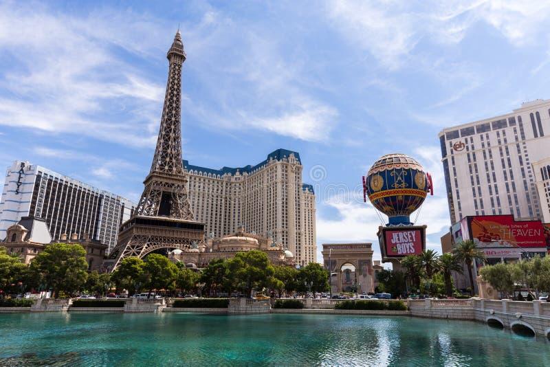 Mening van het hotel van Parijs Las Vegas en het casino, LAS VEGAS, de V.S. royalty-vrije stock foto