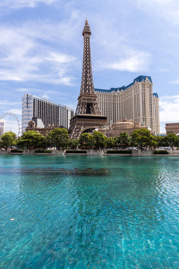Mening van het hotel van Parijs Las Vegas en het casino, LAS VEGAS, de V.S. royalty-vrije stock afbeeldingen