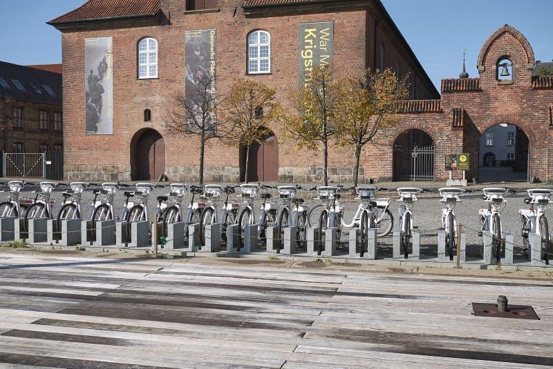 Mening van het Huren van fietsen royalty-vrije stock afbeelding