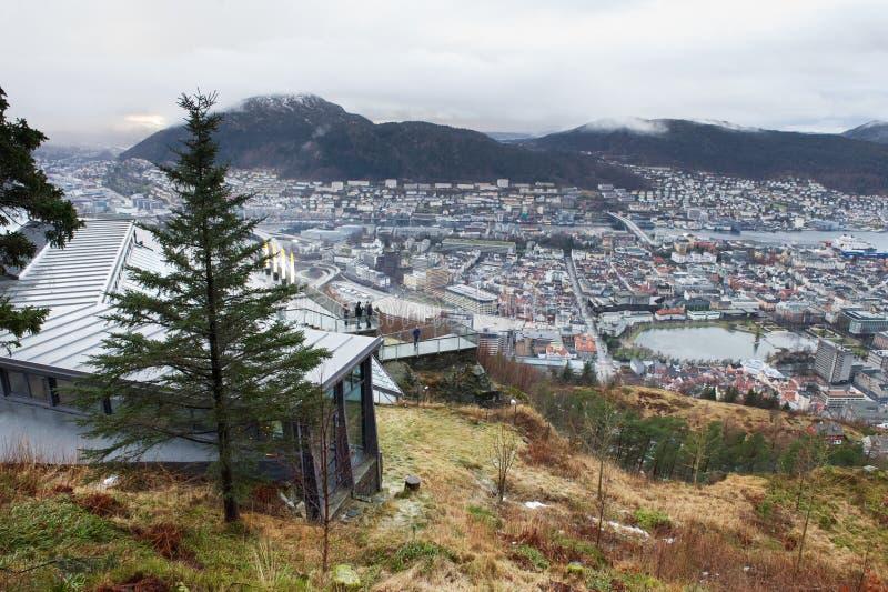 Het punt van info en meningspunt in Bergen, Noorwegen royalty-vrije stock afbeeldingen