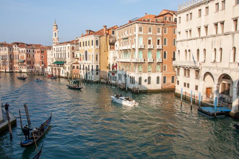 Mening van het Kanaal Grande, Venetië, Italië stock afbeeldingen