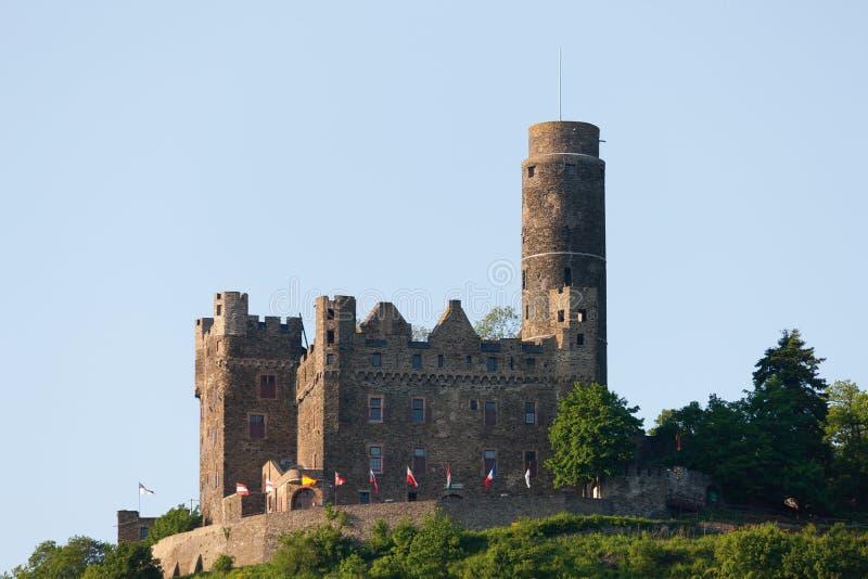 Mening van het kasteel van burgmaus stock foto's