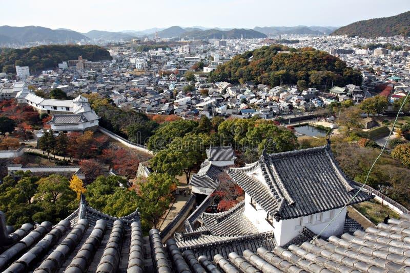 Mening van het Kasteel van Himeji, stock fotografie