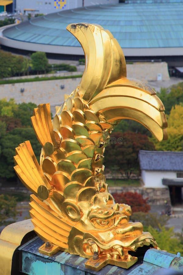 Mening van het Kasteel van Osaka, Osaka, Japan stock foto