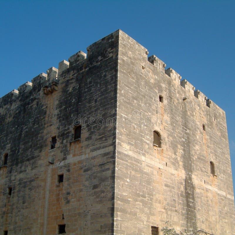 Mening van het Kolossi-kasteel stock fotografie
