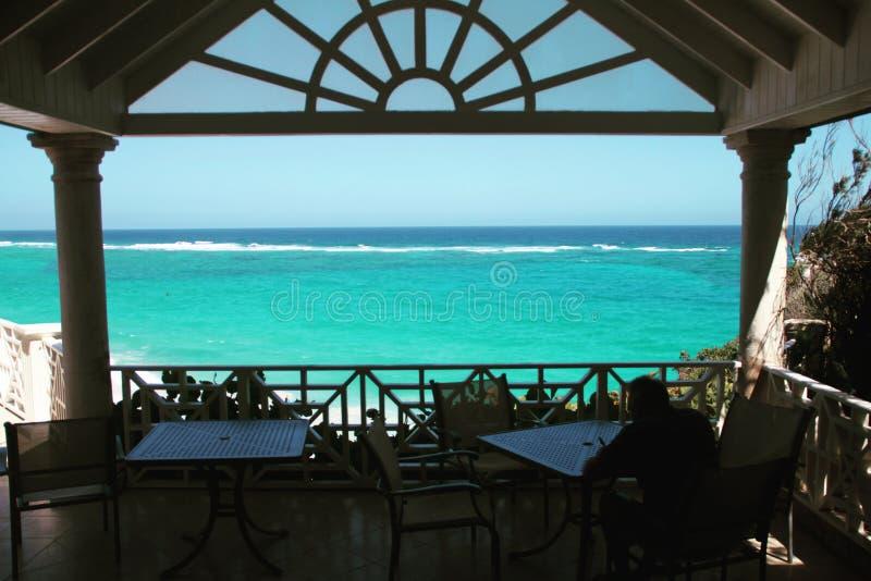 Mening van het Kraanhotel Barbados stock fotografie