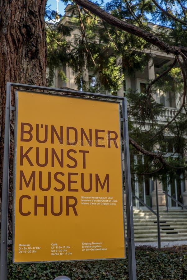 Mening van het Kunstmuseum ` Art Museum van ` Buendner stock foto