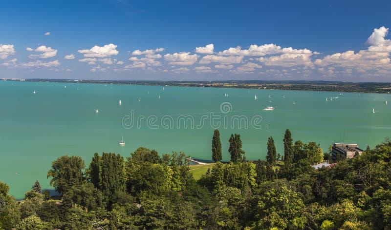 Mening van het Meer Balaton royalty-vrije stock afbeelding