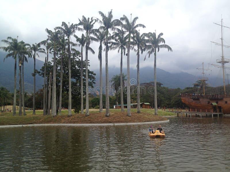 Mening van het meer bij het park van het Oosten royalty-vrije stock afbeeldingen