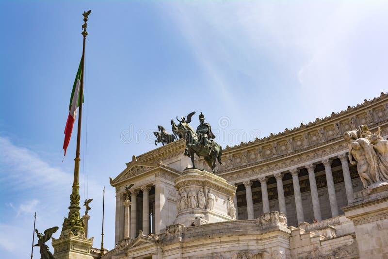 Mening van het nationale monument Vittorio Emanuele II, Piazza Venezia in Rome, Italië royalty-vrije stock afbeelding