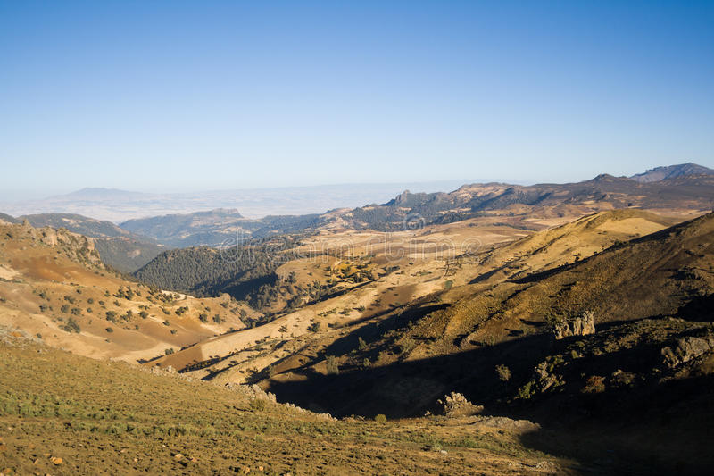 Mening van het Nationale Park van Baalbergen, Ethiopië royalty-vrije stock fotografie