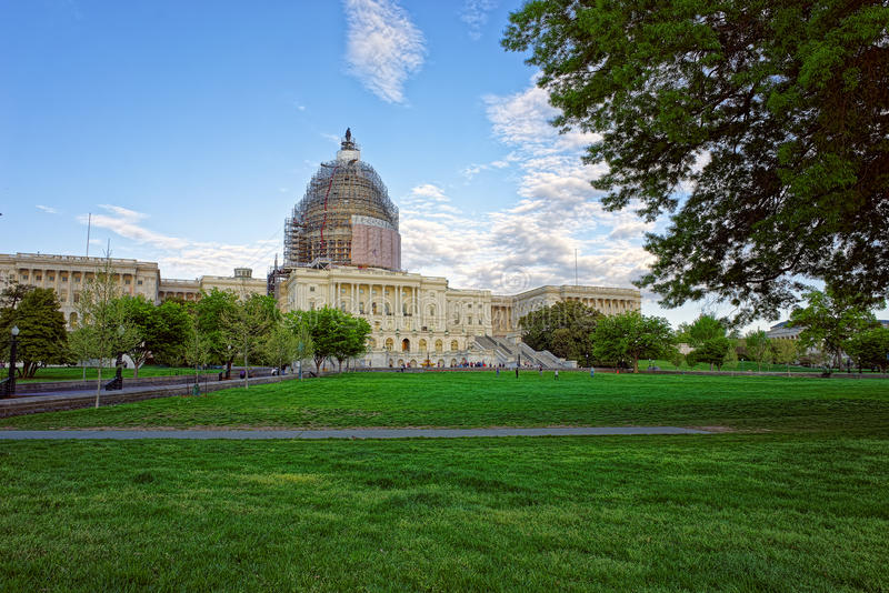 Mening van het park bij het Capitool van Verenigde Staten royalty-vrije stock foto