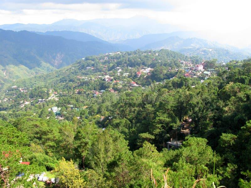Mening van het Park van de Mijnenmening, Baguio, Filippijnen stock foto