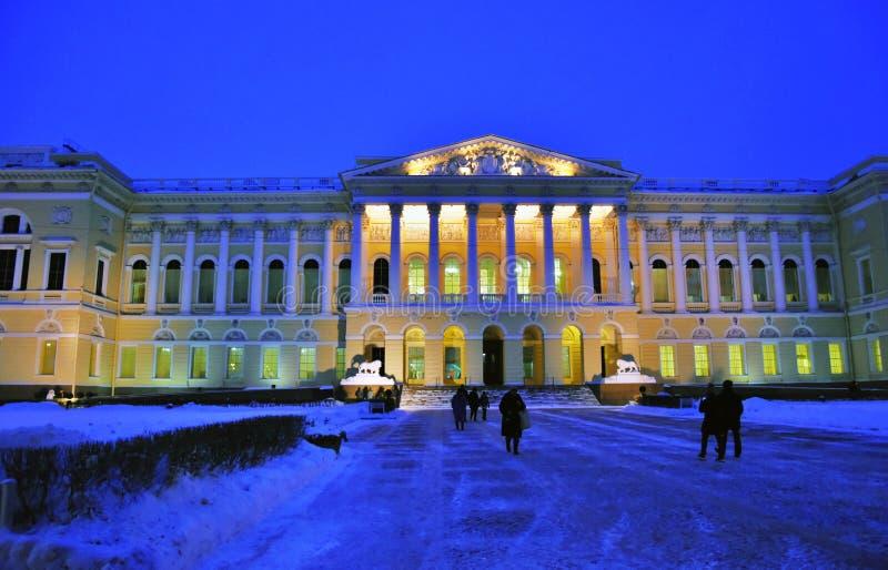 Mening van het Russische Museum van de Staat in heilige-Petersburg stad, Rusland stock foto