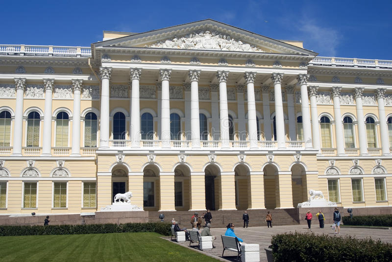 Mening van het Russische Museum van de Staat in heilige-Petersburg stad, Rusland royalty-vrije stock foto