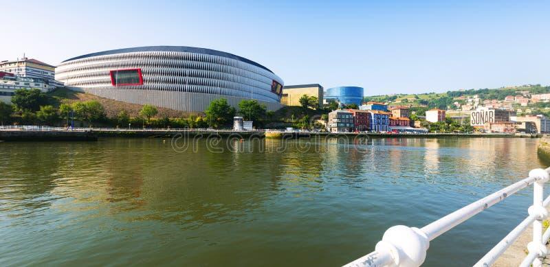 Mening van het Stadion van San Mames in Bilbao spanje royalty-vrije stock foto's