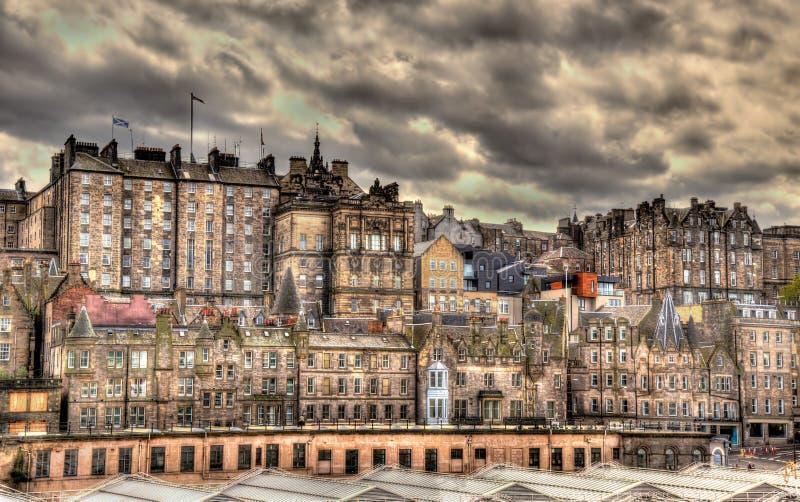 Mening van het stadscentrum van Edinburgh royalty-vrije stock foto