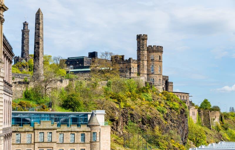 Mening van het Stadswaarnemingscentrum in Edinburgh stock afbeelding