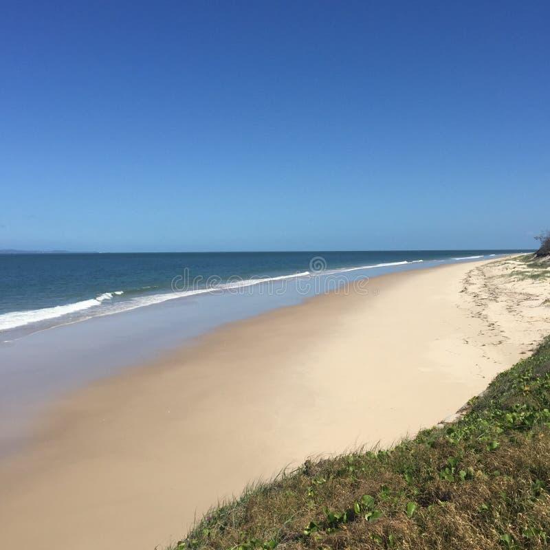 Mening van het strand Byron Bay royalty-vrije stock foto's