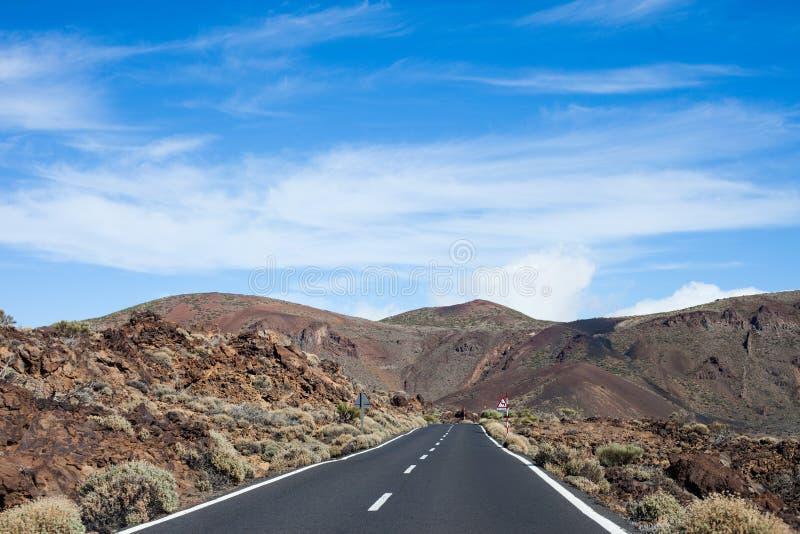 Mening van het Teide de Nationale Park royalty-vrije stock foto's