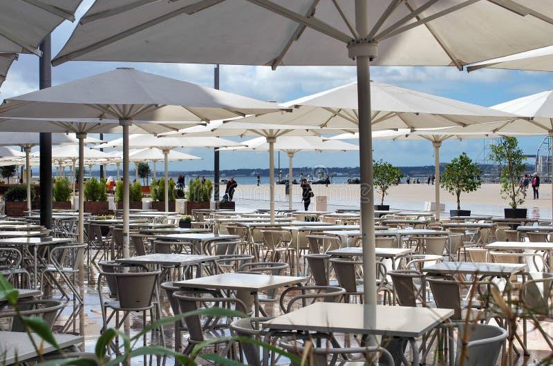 Mening van het terras in Lissabon stock fotografie