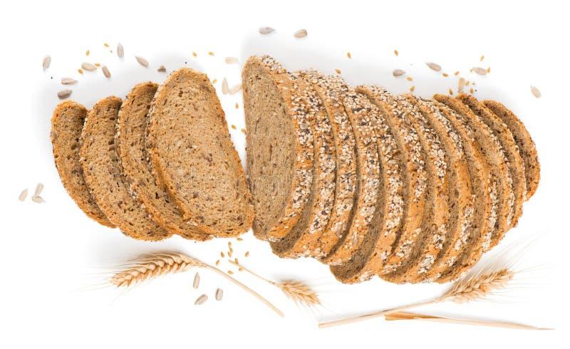 Mening van hierboven van brood met graangewassen royalty-vrije stock foto