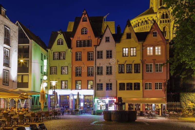 Mening van historisch centrum van Keulen, Duitsland royalty-vrije stock foto
