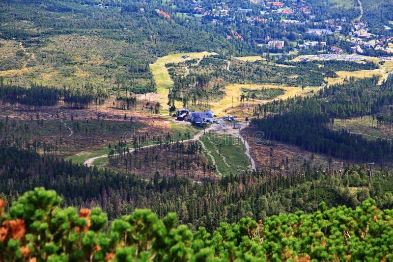Mening van Hoge bergen Tatras stock afbeeldingen