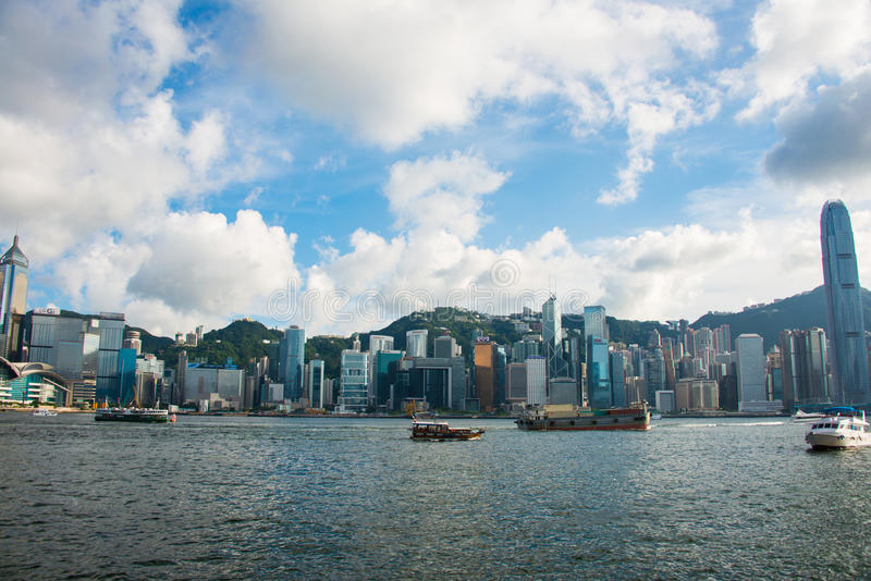 Mening van Hongkong stock foto's