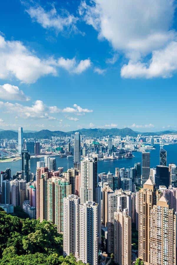 Mening van Hongkong royalty-vrije stock foto