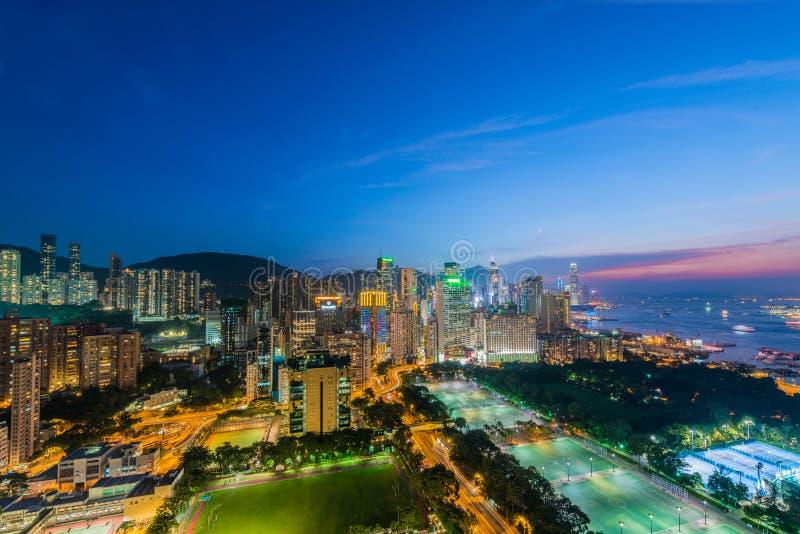 Mening van Hongkong royalty-vrije stock fotografie