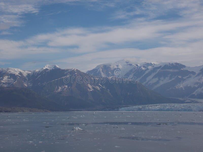 Mening van Hubbard-Gletsjer royalty-vrije stock fotografie