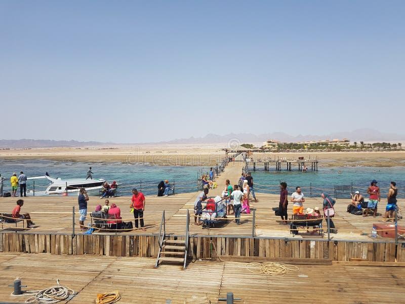 Mening van Hurghada stock foto's