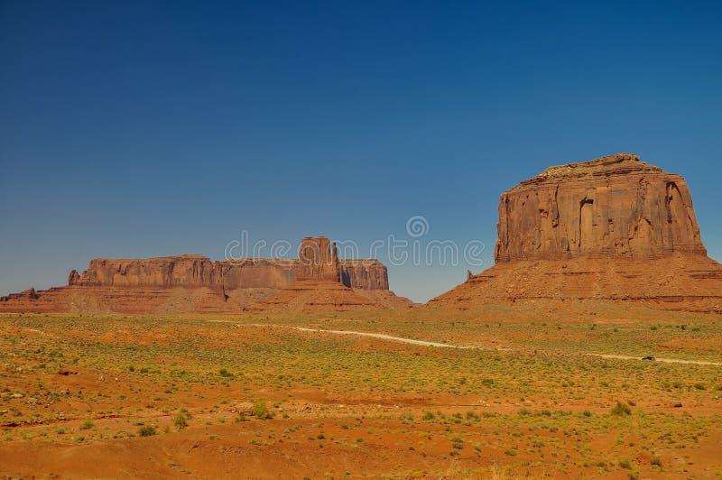 Mening van iconische Monumentenvallei in Arizona stock foto