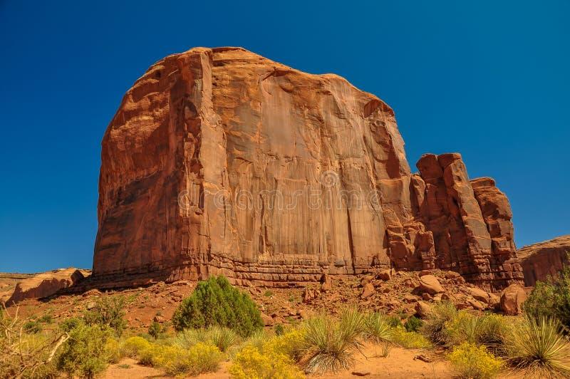 Mening van iconische Monumentenvallei in Arizona royalty-vrije stock foto's