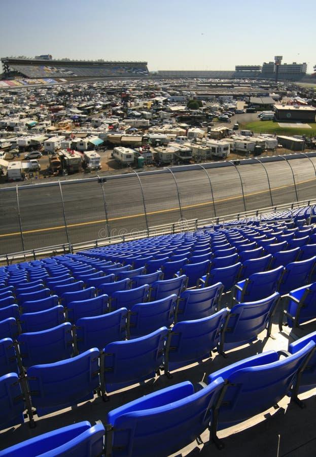 Mening van Infield bij de Speedwaybaan van de Motor Lowes royalty-vrije stock foto