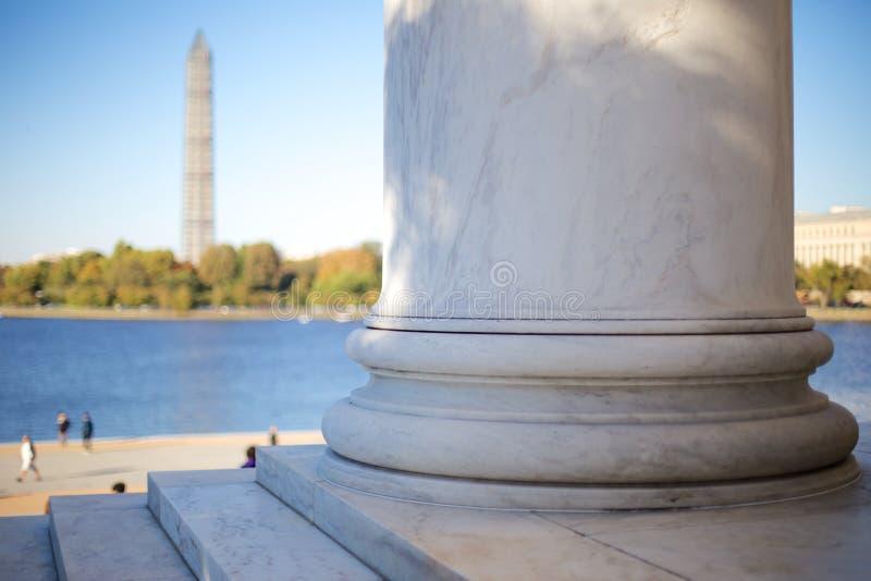 Mening van Jefferson Memorial Steps stock fotografie