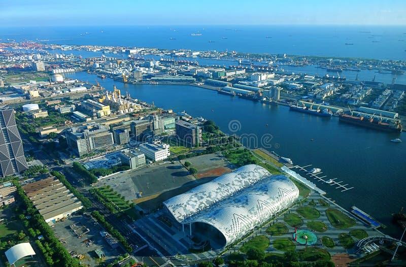 Mening van Kaohsiung-Haven en Tentoonstellingscentrum royalty-vrije stock fotografie