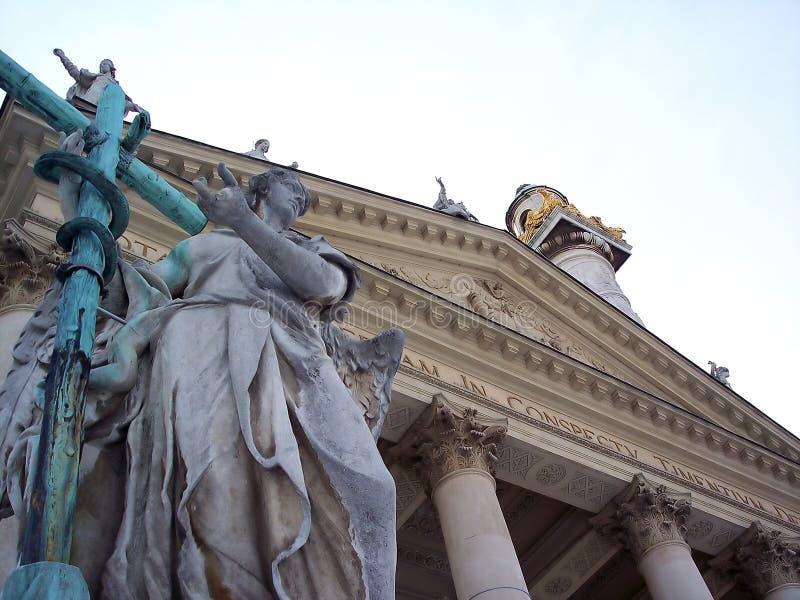 Mening van Karlskirche in Wenen royalty-vrije stock fotografie
