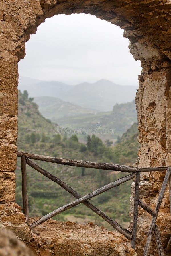 Mening van kasteel stock afbeelding