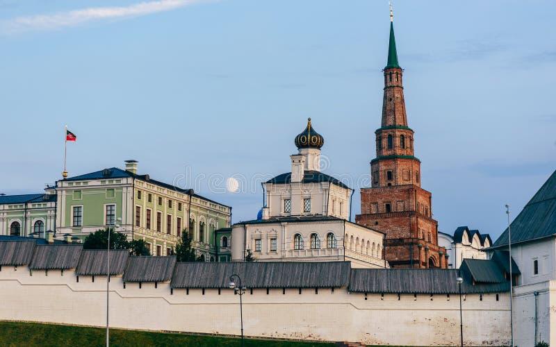 Mening van Kazan het Kremlin royalty-vrije stock afbeelding