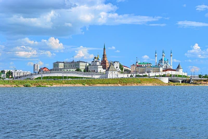 Mening van Kazan het Kremlin, Republiek Tatarstan, Rusland stock foto's
