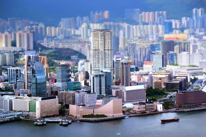 Mening van Kowloon-Schiereiland in Hong Kong royalty-vrije stock fotografie